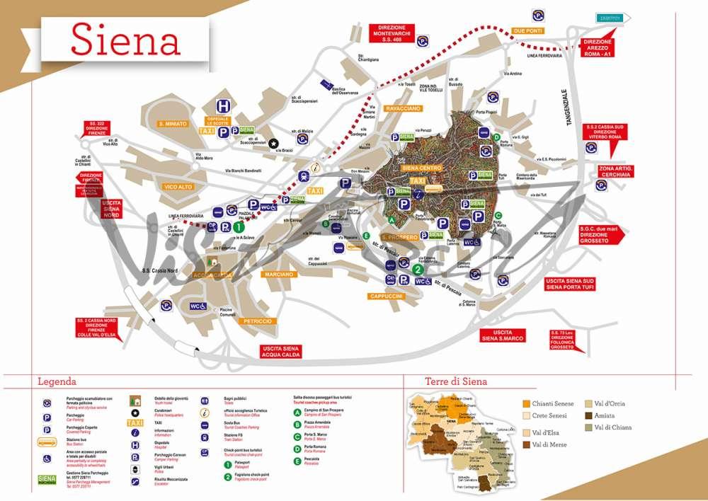 Cartina Turistica Roma Centro.Cartina Di Siena Mappa Turistica Del Centro Storico Cosa Vedere E Visitare Ad Arezzo E Provincia Musei E Itinerari