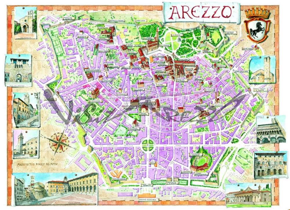 Cartina Geografica Di Arezzo.Cartina Di Arezzo Mappa Turistica Cosa Vedere E Visitare Ad Arezzo E Provincia Musei E Itinerari